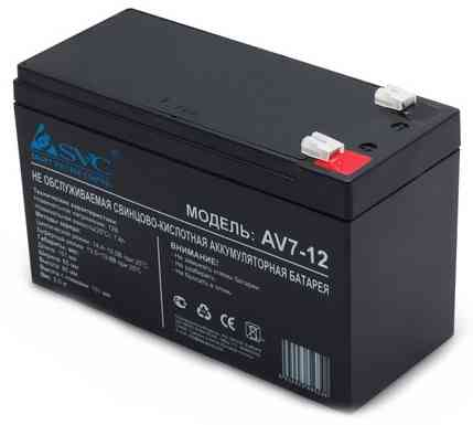 Батарея, SVC, AV7-12, Свинцово-кислотная 12В 7 Ач, Размер в мм.: 95*151*65 Актобе