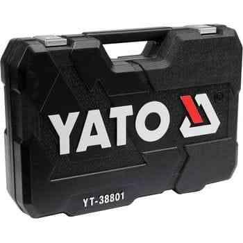 Набор инструментов 120 пр: 1/4, 3/8, 1/2, 6 гр YATO YT-38801 Актобе